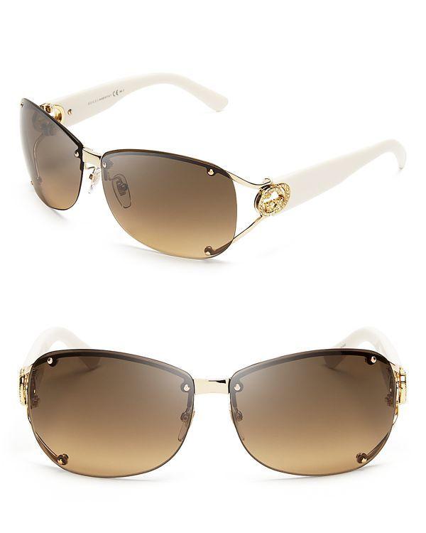 9504db47114 Gucci Rimless Aviator Sunglasses