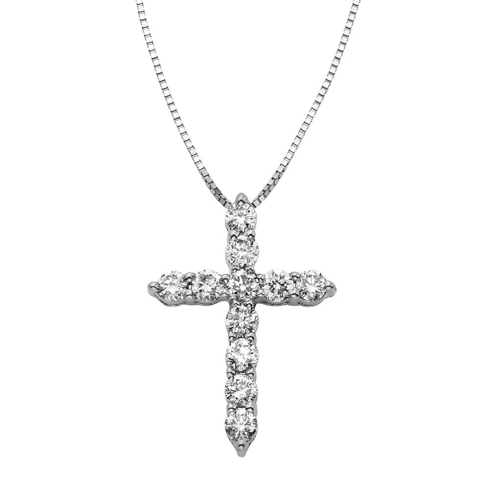 A true beauty this pretty pendant features genuine round diamonds