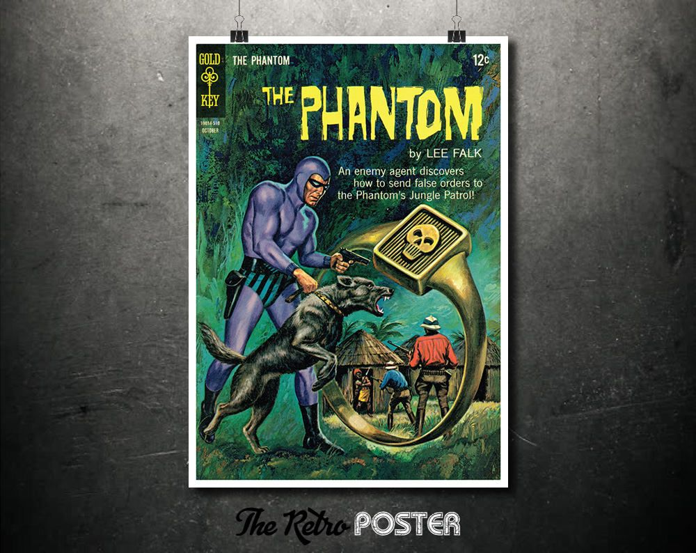 The Phantom   Gold Key   October 1962   Comic Art, Comic Poster, Comic