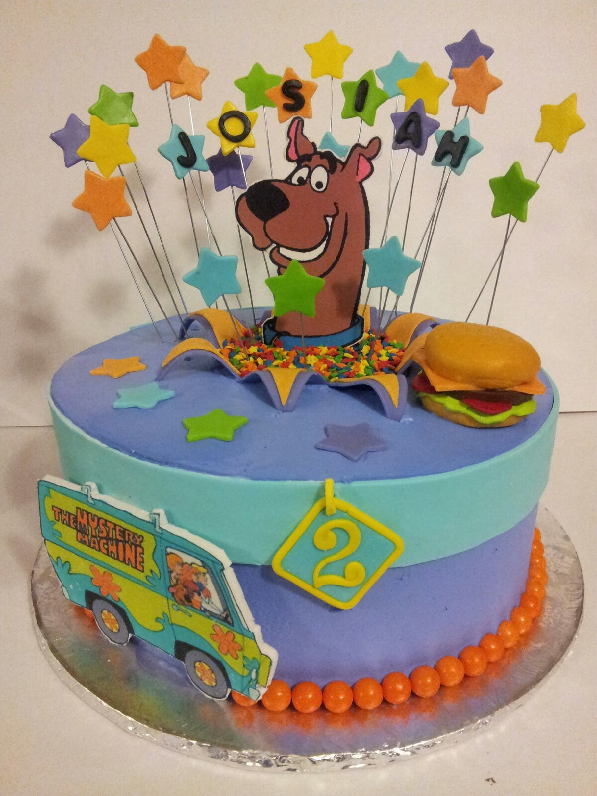 Scooby Doo Cake 11 round frosted in Pastry Pride Stars Scooby
