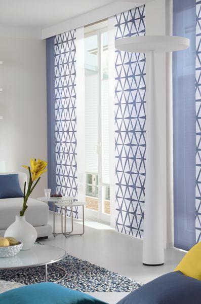Flächenvorhänge - Dekofactory Vorhang Wohnzimmer Pinterest - vorhange wohnzimmer blau