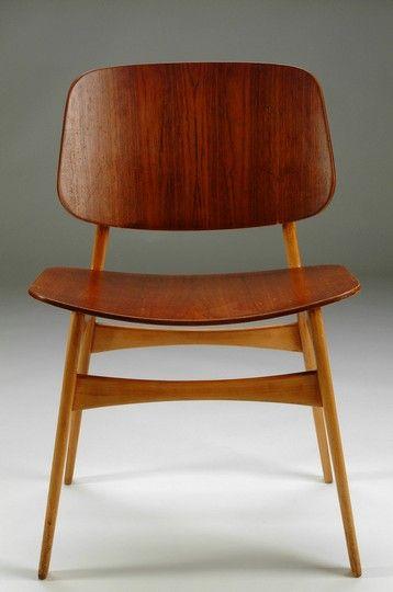 Simply fantantastic! #dcredlinehomes Børge Mogensen: Teak-Faced Plywood & Oak Sidechair, 1950.