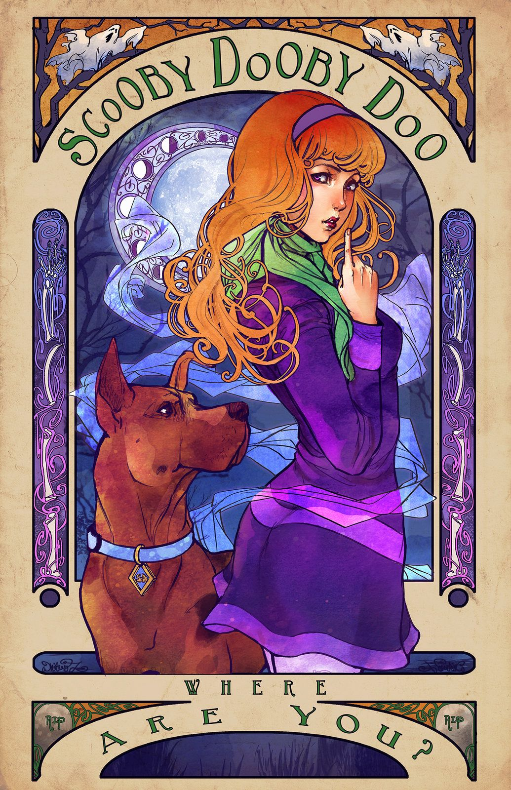 Scooby Dooby Mucha Whitney Lanier On Artstation At Https Www