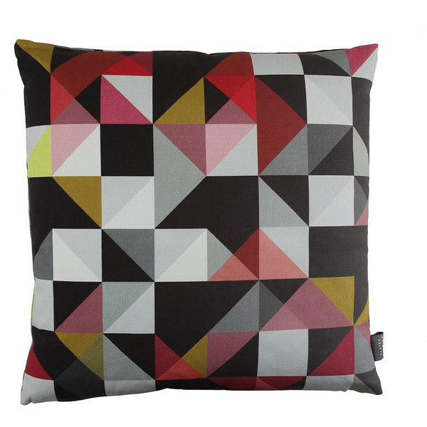 Claire Gaudion Les Tielles Cushion - Red ($82) ❤ liked on Polyvore