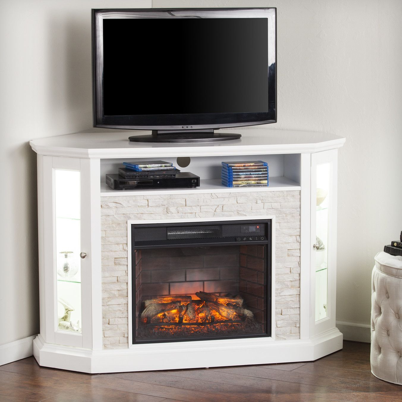Rupert Corner Convertible Infrared Electric Fireplace