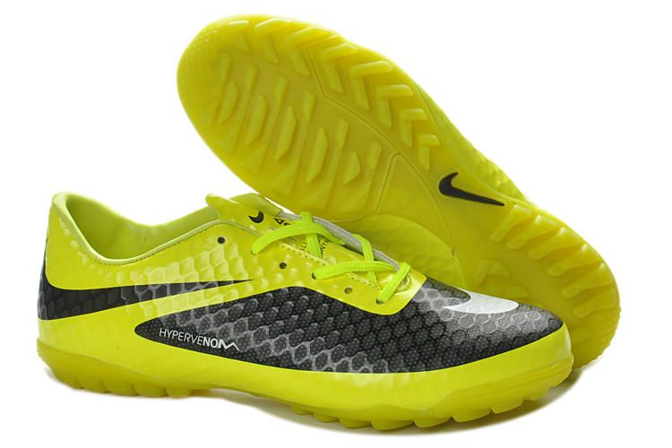 buy online 10240 b76b8 Best Nike Hypervenom Phelon TF Turf Soccer Shoes Sale Yellow Black