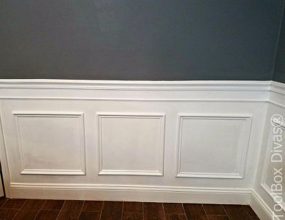 Install Picture Frame Moulding Budget Friendly Wainscoting, Wall Decor,  Woodworking Projects. Picture Frame MouldingPicture FramesDining Room ...
