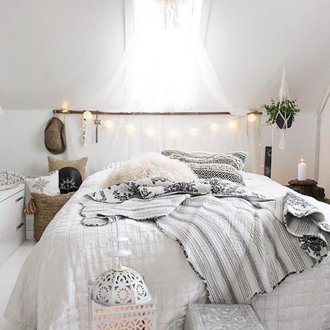 lichterkette white ab ins bett. Black Bedroom Furniture Sets. Home Design Ideas