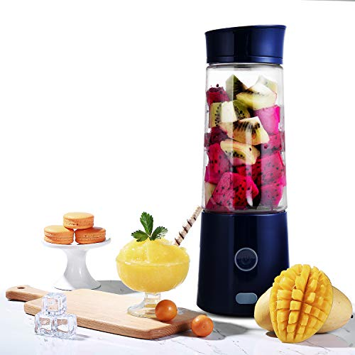 Greenis Portable Blender for Shakes Smoothies Portable Travel Bottle Juice Personal USB Rechargeable Blender