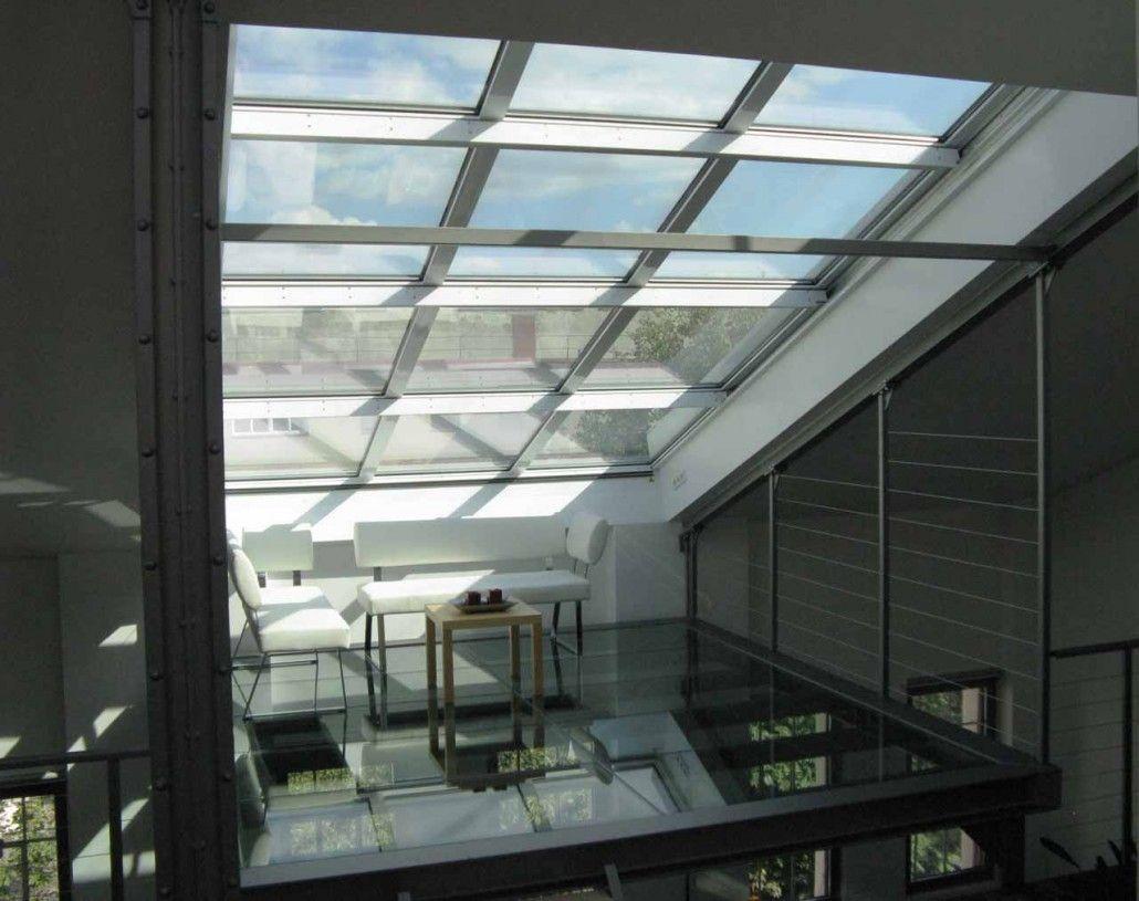 Fenster mit angehängtem Terrassen Glasboden