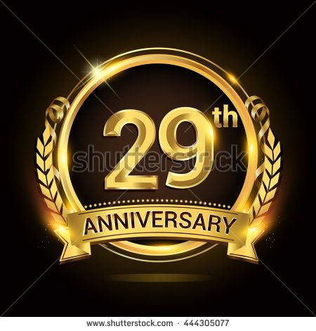 29th Golden Anniversary Logo 29 Years Anniversary Celebration With