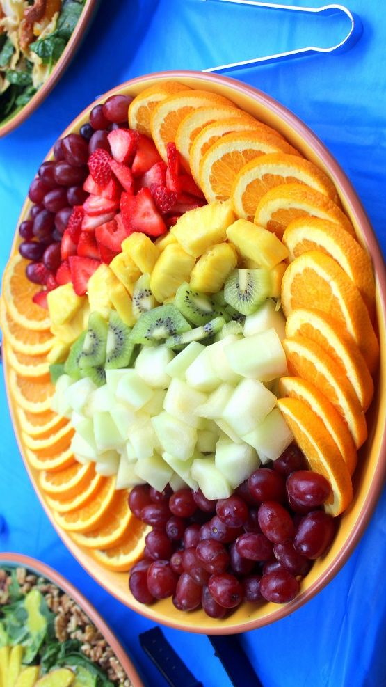 World's BEST Easiest FRUIT TRAY PRESENTATION