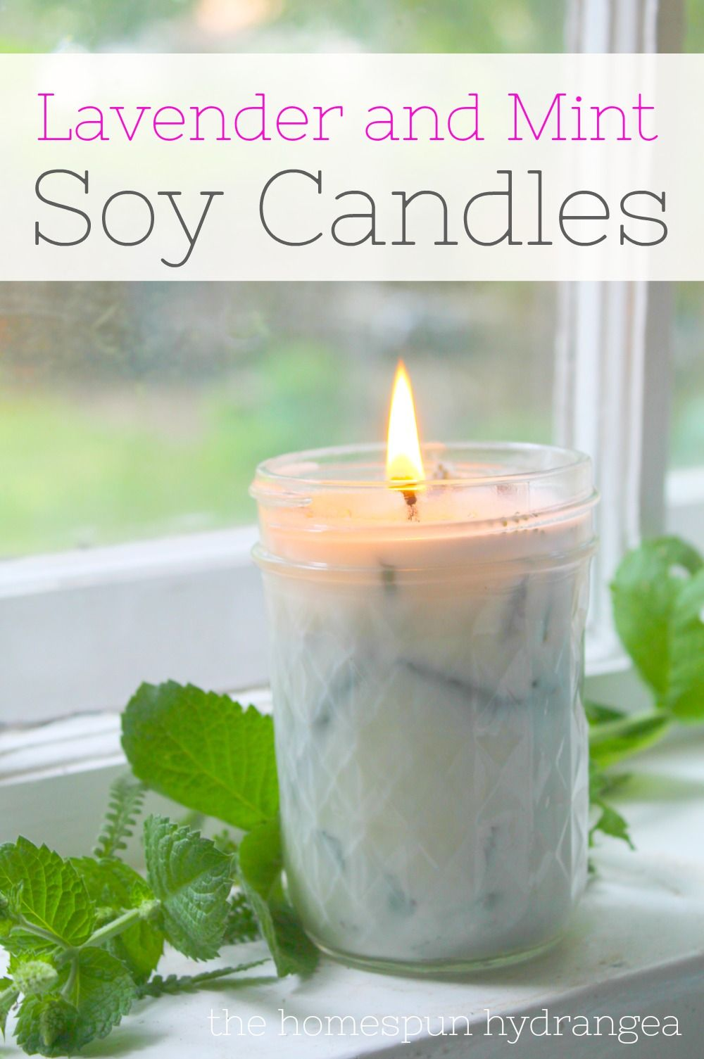Homemade Lavender and Mint Soy Candle Recipe Soy candle