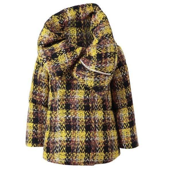 MIHARAYASUHIRO Techno-tweed Down Padded Jacket (€2.185) ❤ liked on Polyvore featuring outerwear, jackets, coats, abrigos, casacos, yellow, feather jacket, tweed jacket, miharayasuhiro and padded jacket