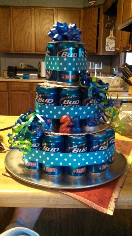 21st Beer Can Birthday Cake