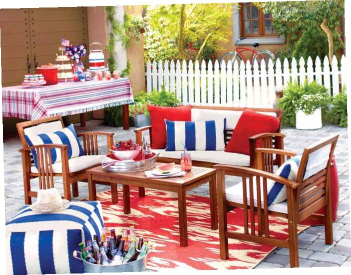Home Decorators Outdoor Cushions: ALL-AMERICAN SUMMER STYLE At Cost Plus World Market Kick