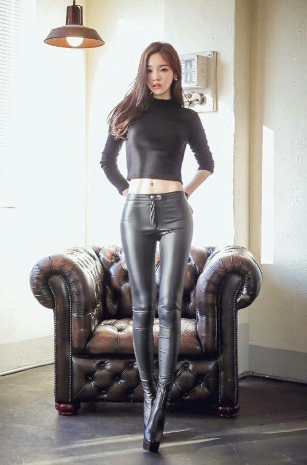 Sexy Minah - Black Leather Pants! ~ Cute Girl - Asian Girl