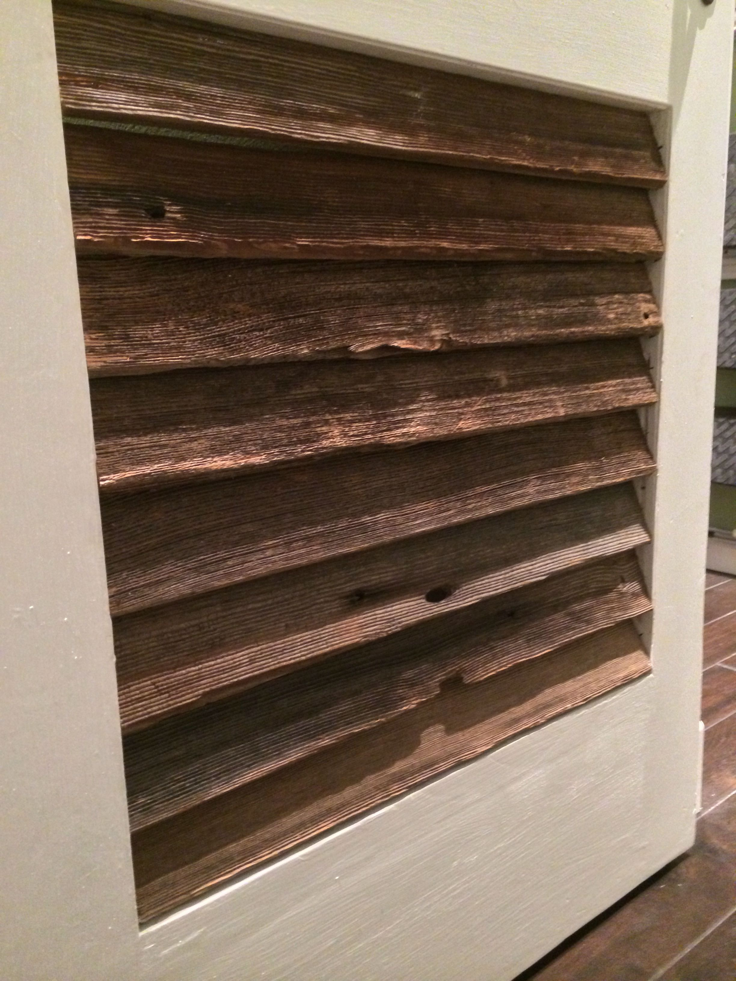 Barn Door For Kitchen Weathered Barn Wood Louvers On Sliding Barn Door For Kitchen