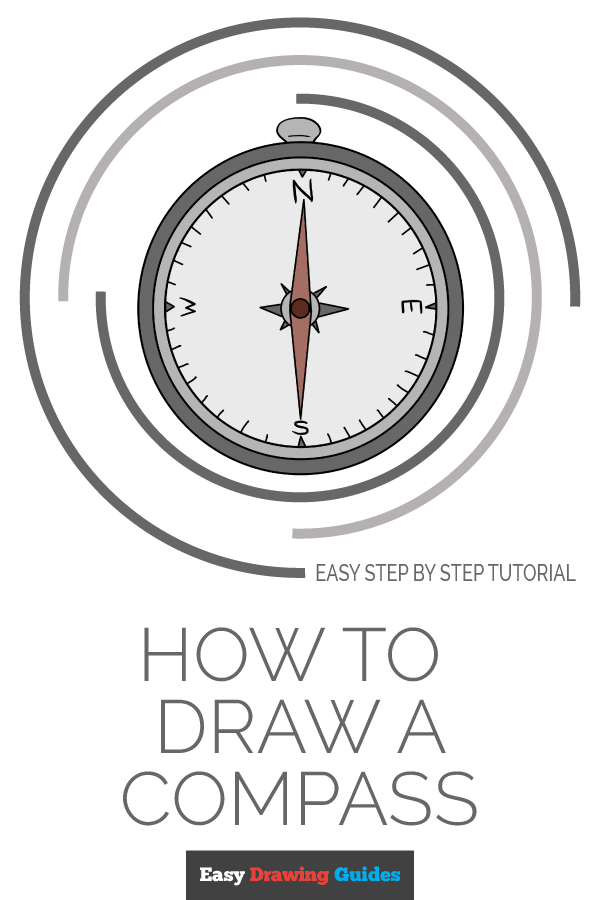 How To Draw A Compass Easy Drawings Compass Drawing Drawing