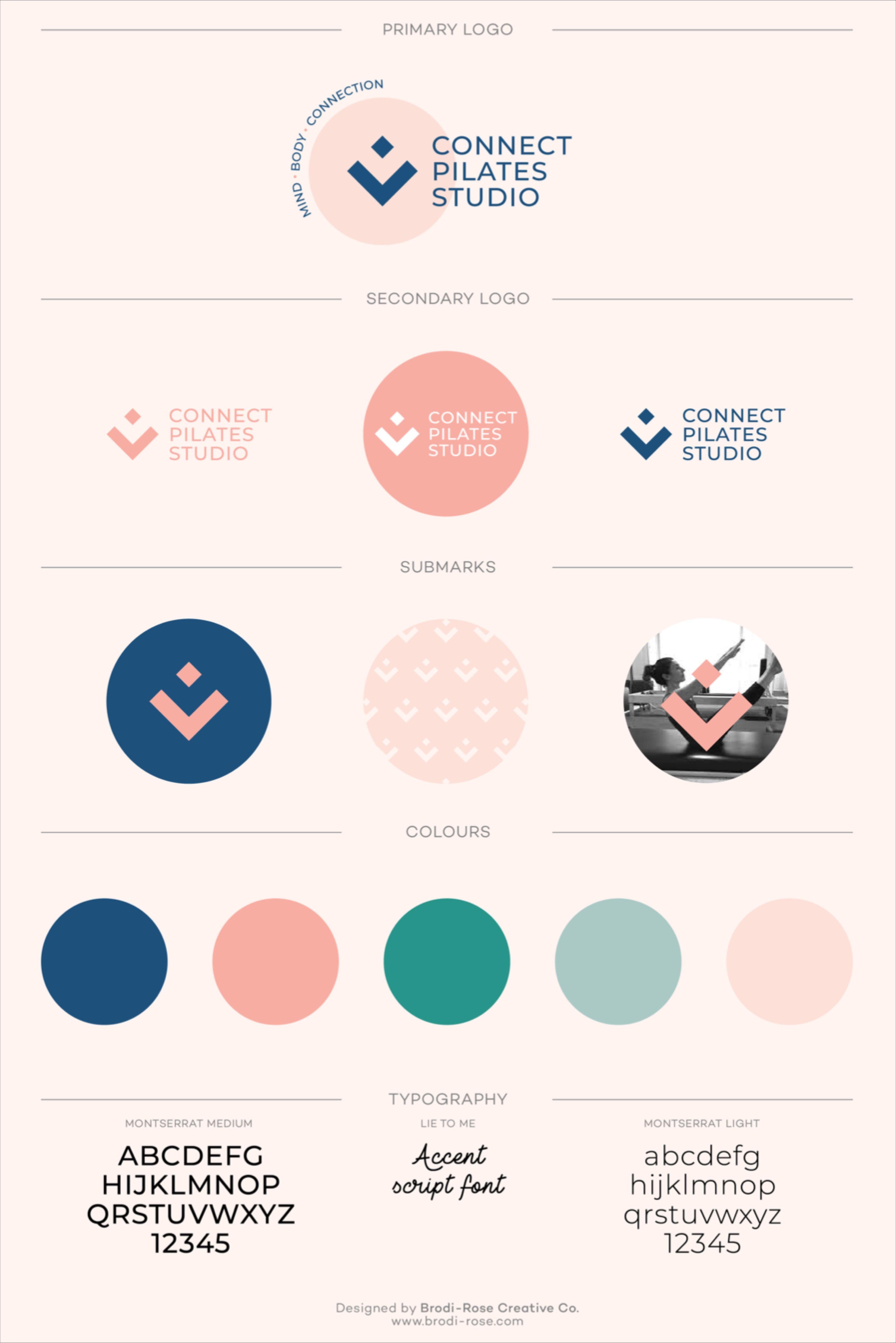 Connect pilates studio brand design in 2020 branding