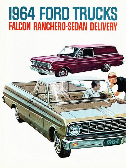 Cover of the brochure for the 1964 Ford Falcon Ranchero & Sedan Delivery