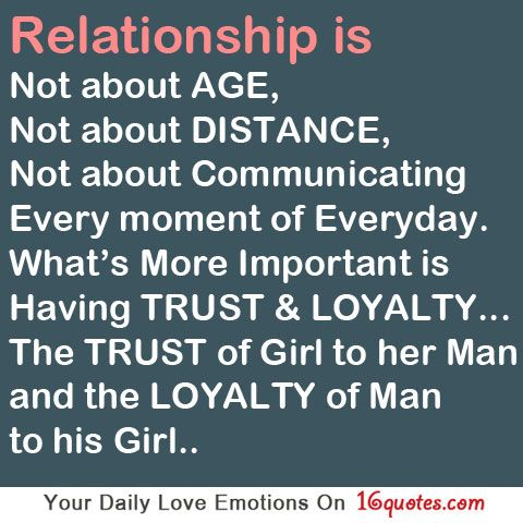 Troubled Relationship Quotes for Him | Without trust and loyalty