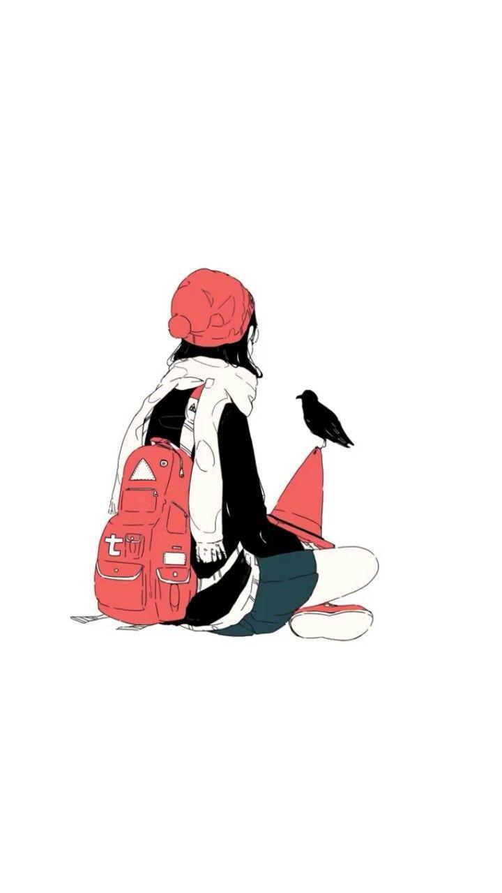 lofi art   ポエム かわいい, キュートなアート, 線画 女の子