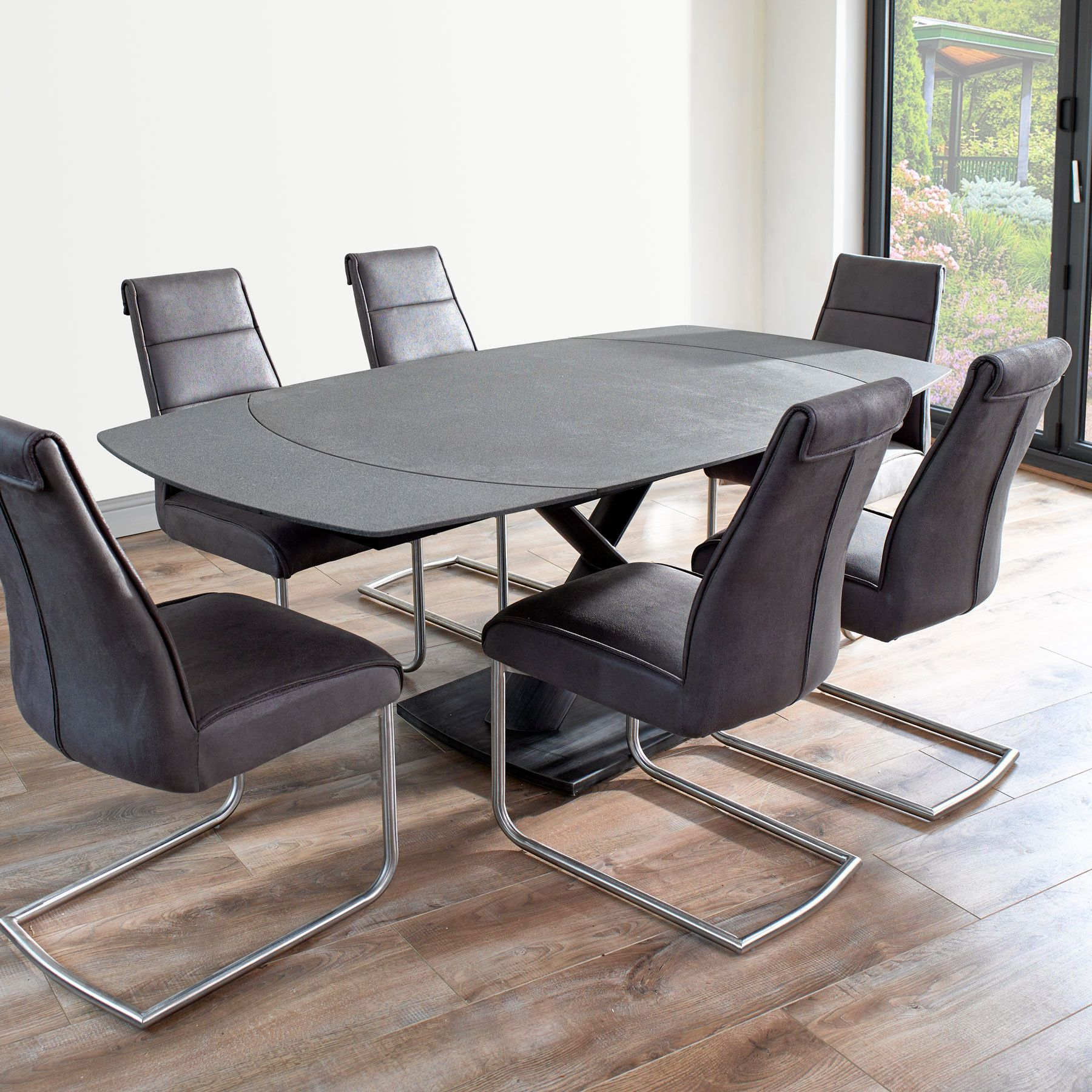 Merveilleux Domasco Revolving Extending Dining Table And 6 Chairs