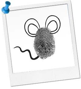 Thumbprint Mice #mousecrafts