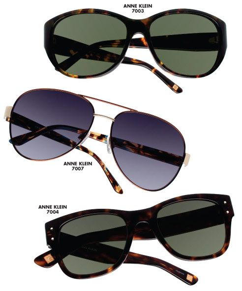 the anne klein eyewear collection by altair eyewear debuts with eight sunglasses showcased here