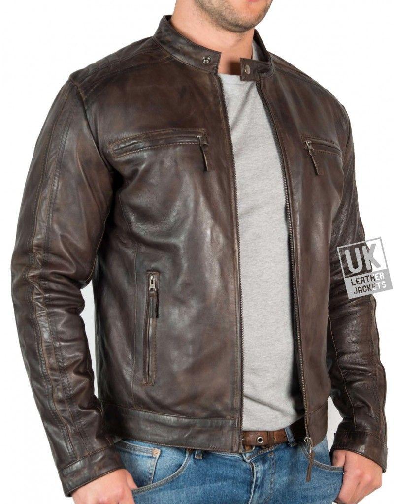 Mens Vintage Brown Leather Jacket Mustang Front Leather Jacket Men Leather Jacket Men Style Brown Leather Jacket Men [ 1024 x 800 Pixel ]