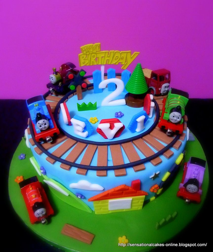 Marvelous Thomas Train Percy 3D Train Theme Cake Singapore Birthday Personalised Birthday Cards Sponlily Jamesorg
