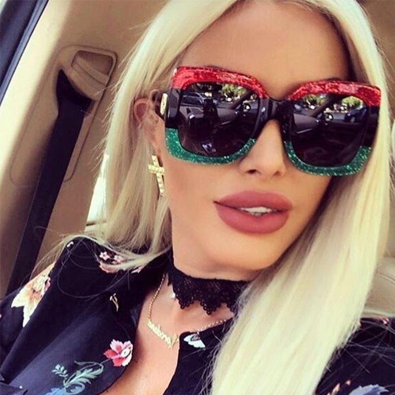 82d86f4ec5e 2018 High Quality Square Sunglasses Women Brand Designer Vintage Retro Big  Frame Sunglasses Female For Women Shades