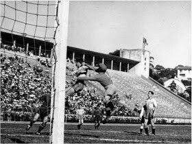 Sweden 3 Spain 1 In 1950 In Sao Paulo Telmo Zarra Heads Home To Make It 3 1 After 82 Minutes In The Final Group At The World Cup Finals