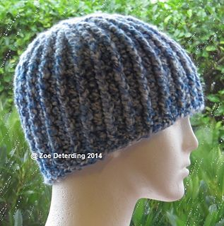 Chunky Ribbed Hat - Free crochet adult pattern by Zoe Deterding. Chunky  yarn (up to 100 yards) f4a0dd661ea