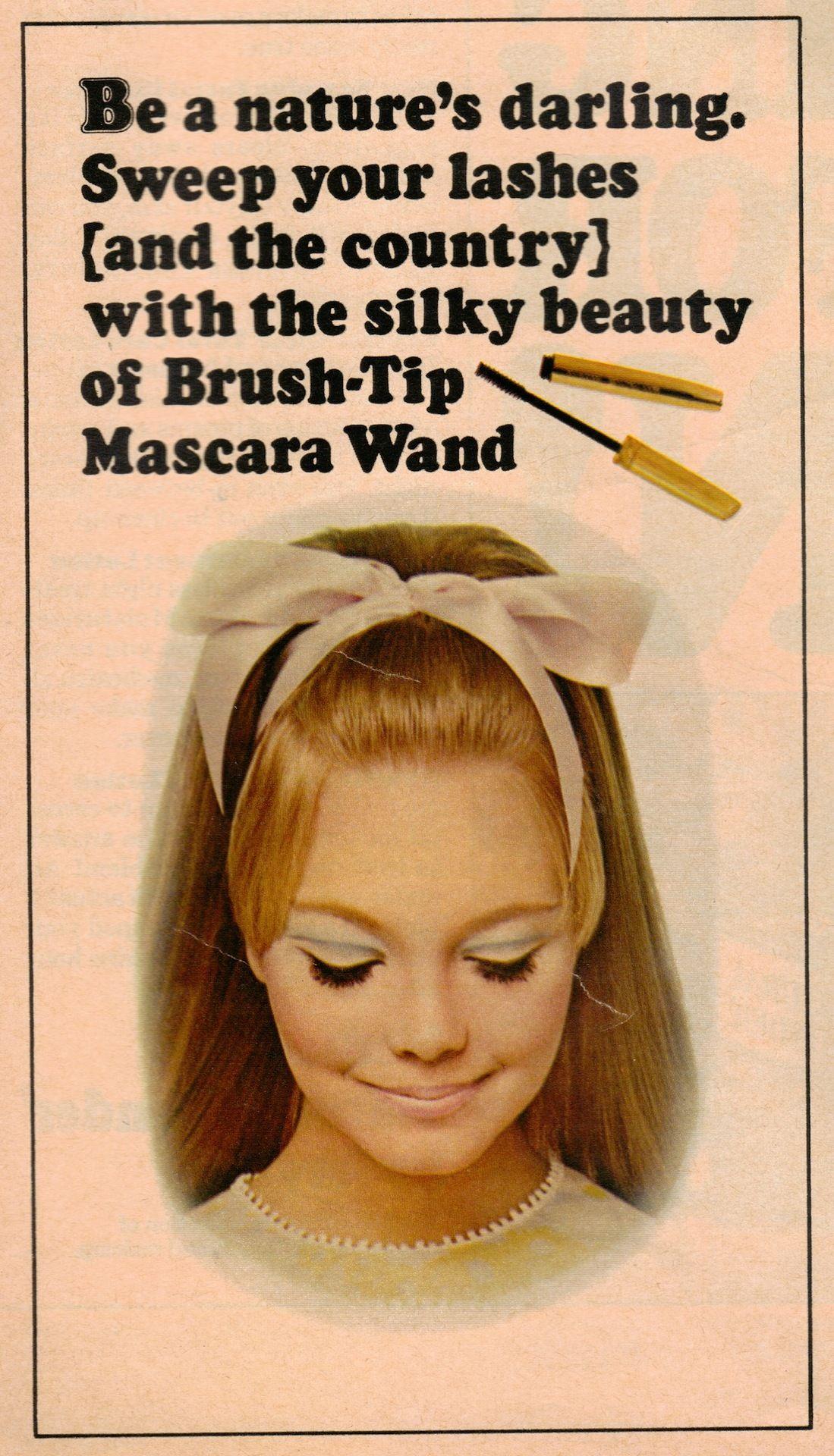 1960s mascara advertisement Sixties Looks Pinterest