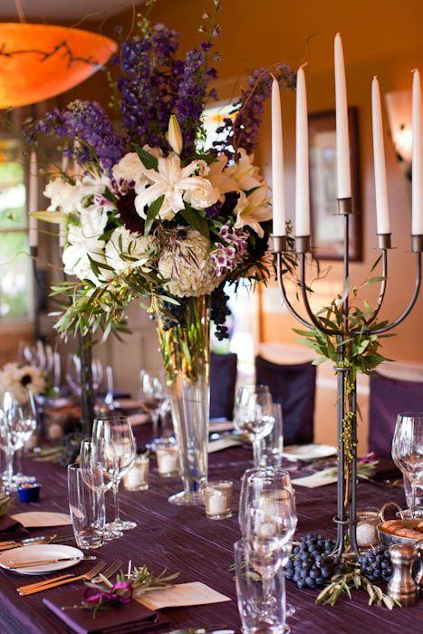 Purple Table Setting - Napa Wedding | Indigo & Plum Vineyard Wedding ...
