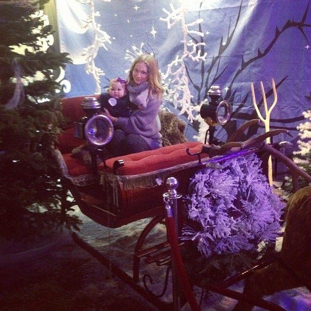 We got to ride on Santa's sleigh! ❄️ #believe #fotaisland #sacconejolys