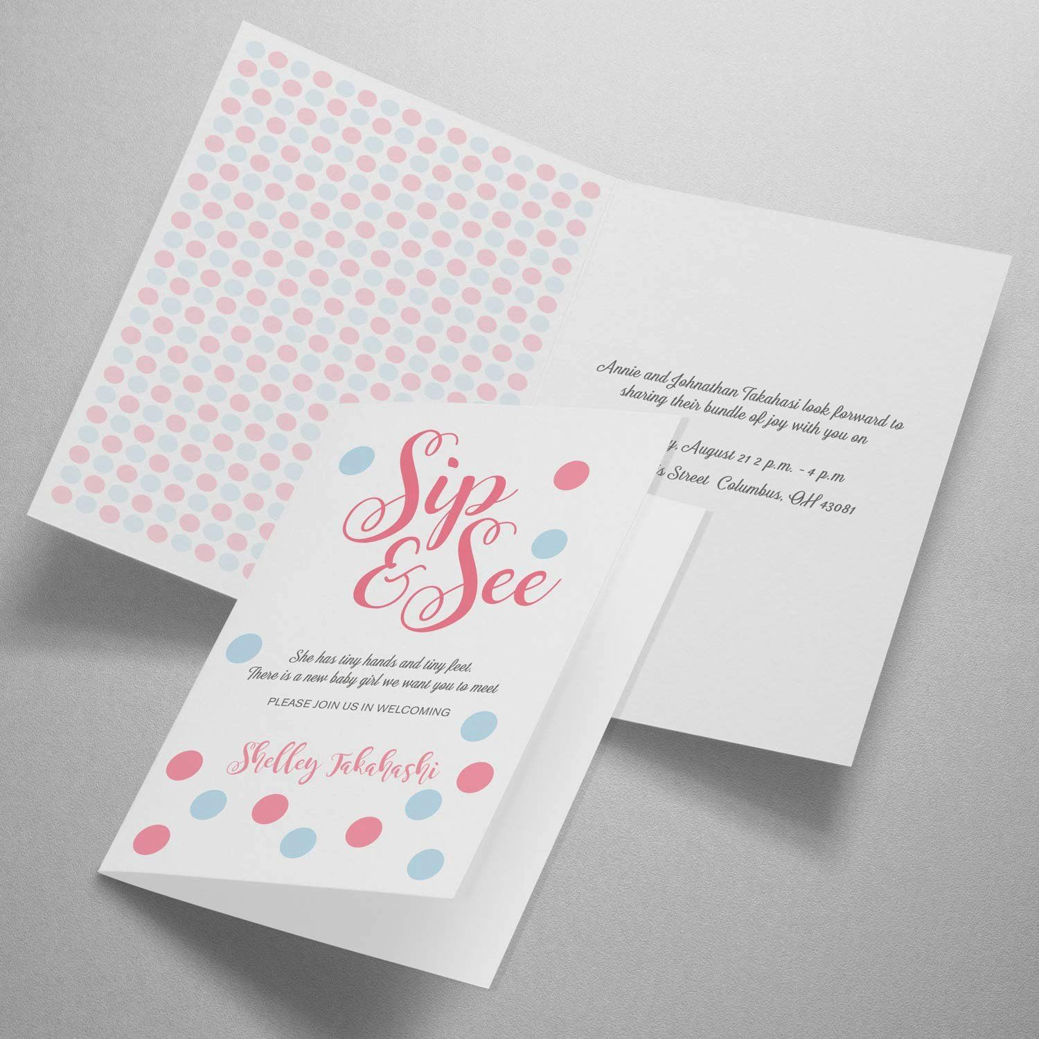 Folded Greeting Card Template Lovely Avery Half Fold Greeting Cards For Inkjet Printers 5 5 Printable Greeting Cards Greeting Card Template Card Template