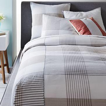 Organic Braided Matelasse Duvet Cover Amp Shams Modern Bed