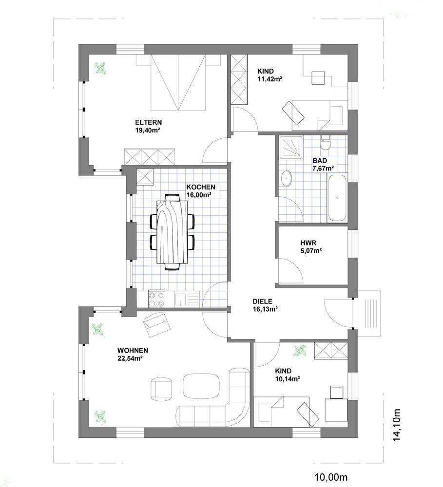 Bungalow Grundriss Ihr Traumhaus Ideen Floor Plans