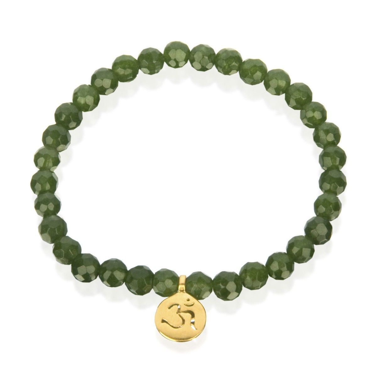 Green jade stretch beaded bracelet with om satya jewelry jewelry find this pin and more on jewelry with meaning aloadofball Image collections