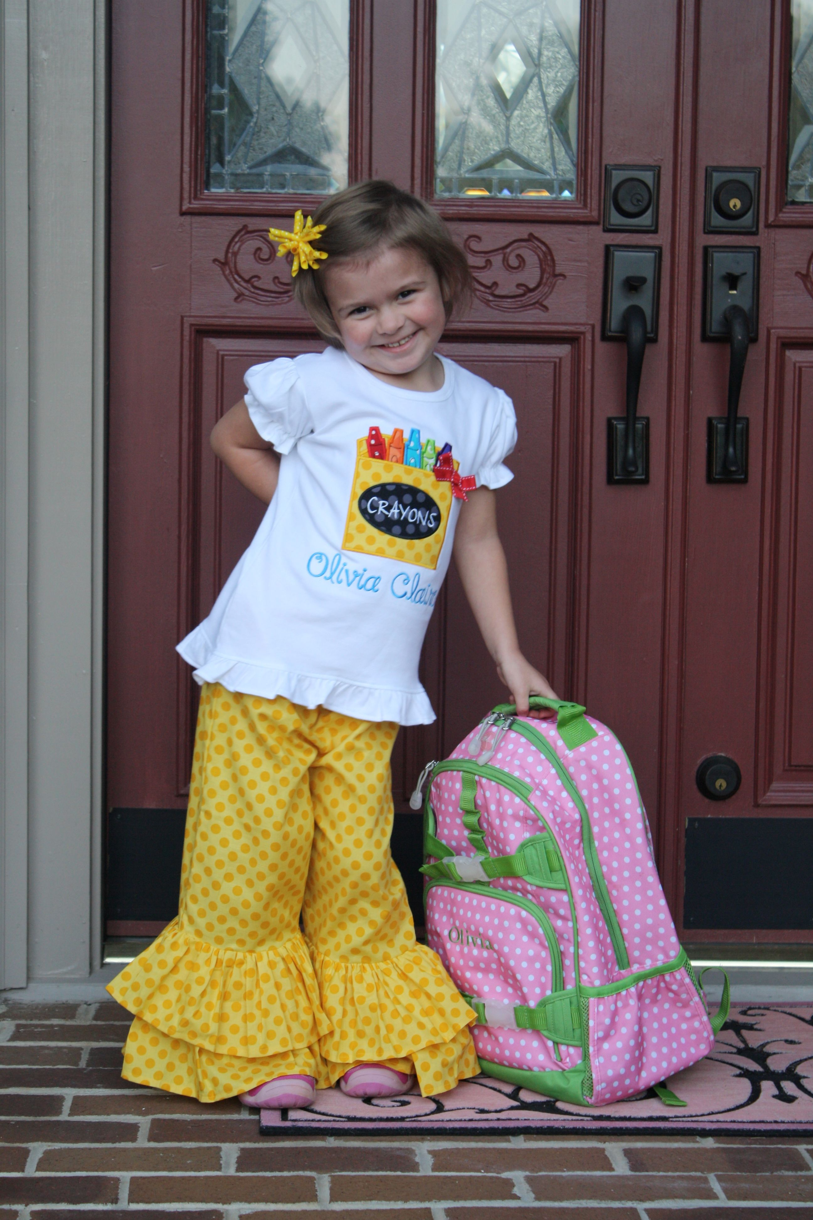 40522e7363fdbd4eb99ab01a0dee7e86 - First Day Of Kindergarten Outfit