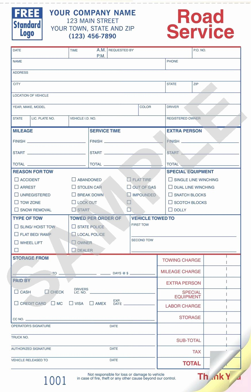 Towing Company Receipt Template Wfacca Inside Towing Business Plan Template 10 Professional Templat Invoice Template Towing Company Business Plan Template