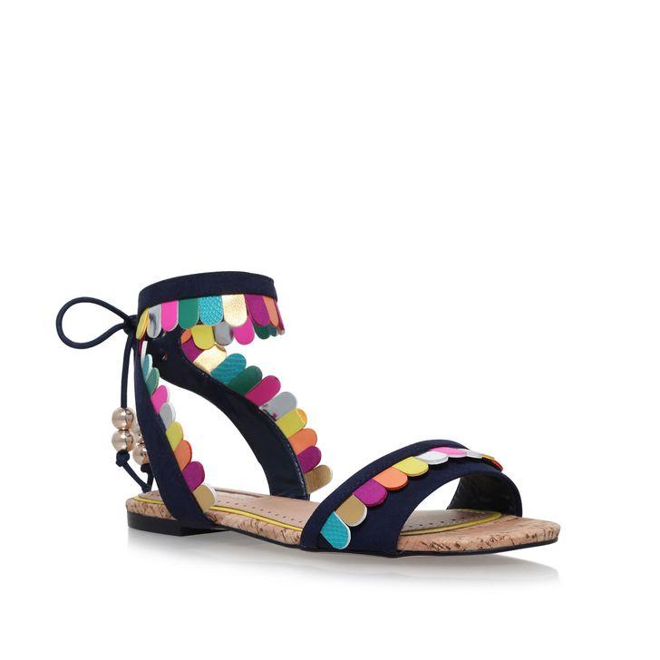 Fashion · Raphy Multi Coloured Flat Sandals By Miss KG | Kurt Geiger