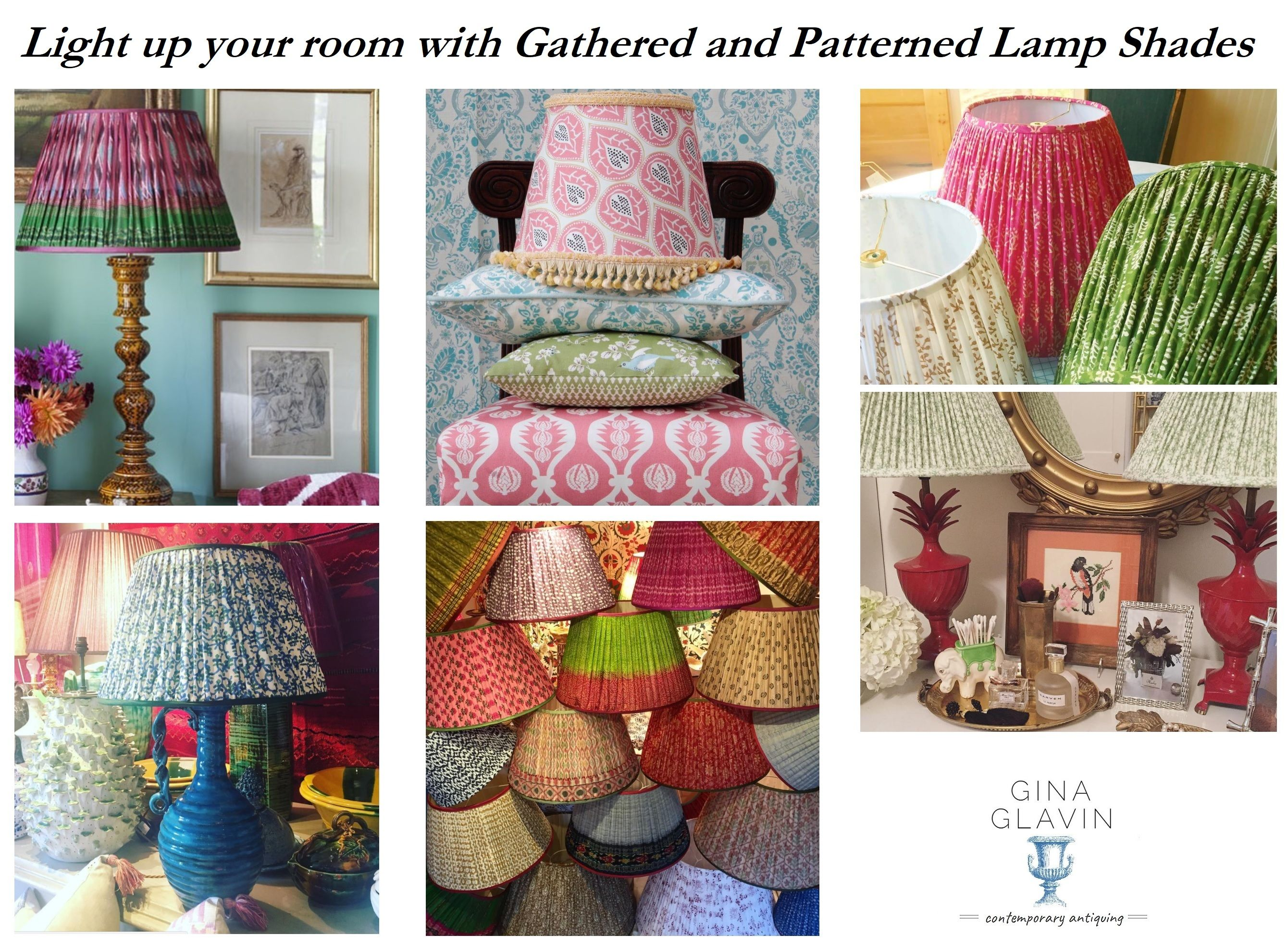 Patterned Lampshades Timeless Trend Patterned Lampshades  Gina Glavin  Patterned Lamp