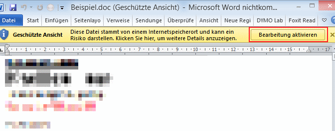 Wenn Word Oder Excel Mal Wieder Zu Vorsichtig Sind Excel Tipps Microsoft Microsoft Word
