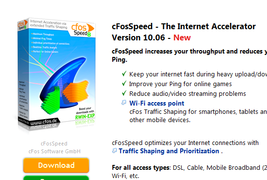 cfosspeed windows 10 download