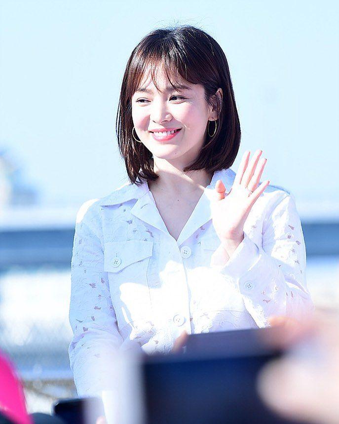 Song Hye Kyo at 2018 Pink Run in Busan today #송혜교 ...