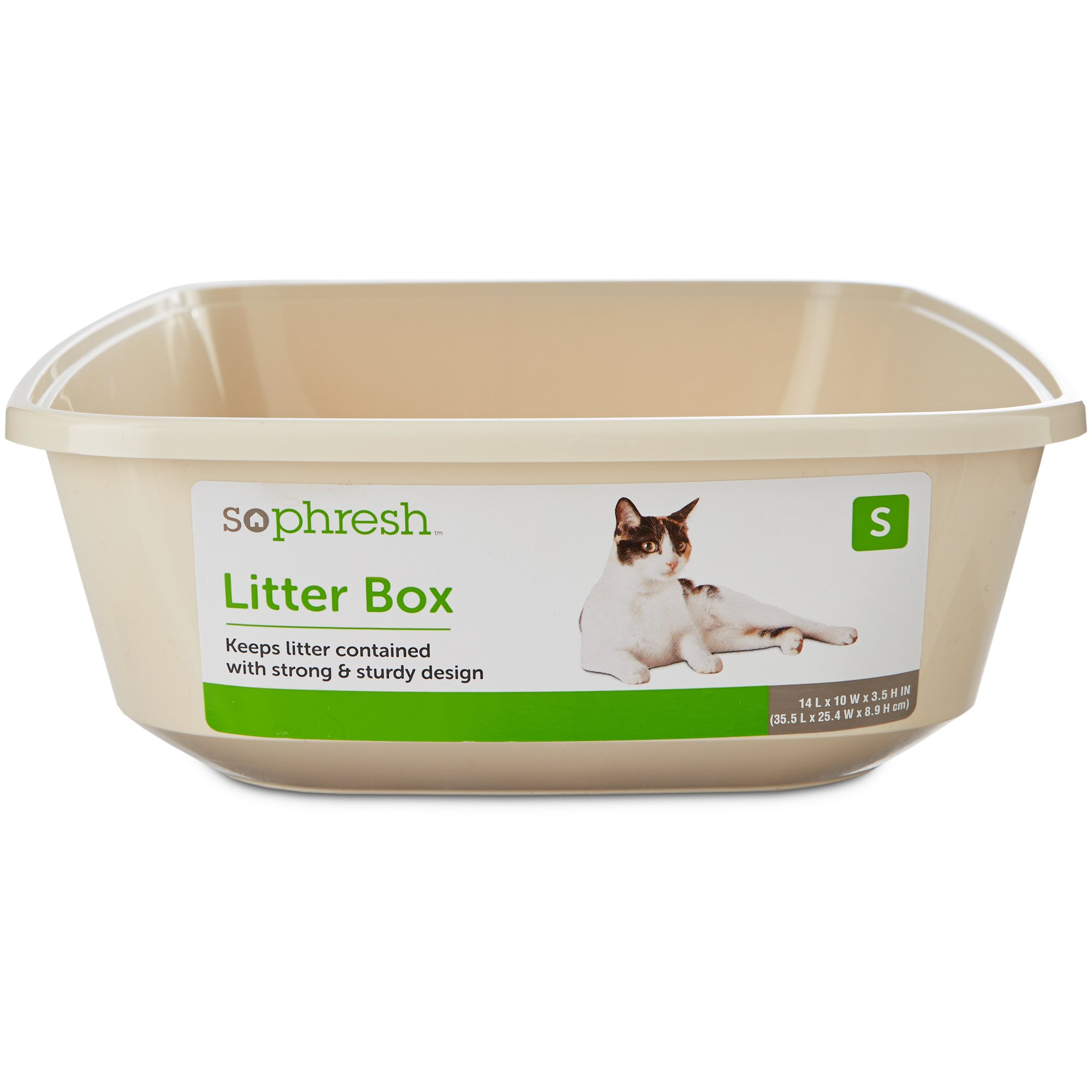 So Phresh Small Open Kitten Litter Box Linen 14 L X 10 W X 3 5 H Litter Box Cat Litter Brands Cat Litter Mat